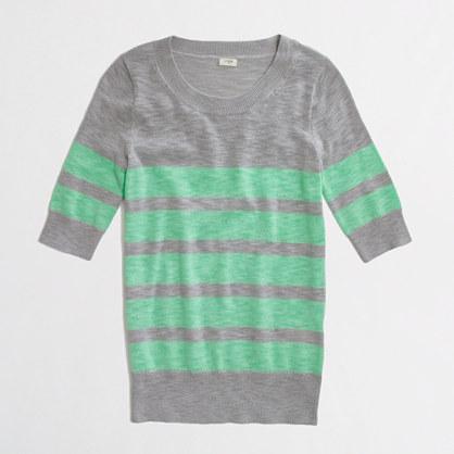 Factory stripe elbow-sleeve sweater