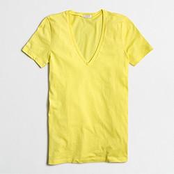 Factory tissue V-neck T-shirt