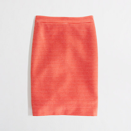 Factory pencil skirt in dot-dot-dash
