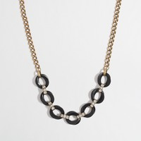 Factory oval crystal-link necklace