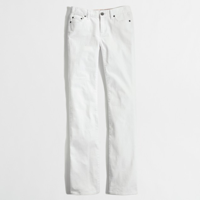 Bootcut jean in white