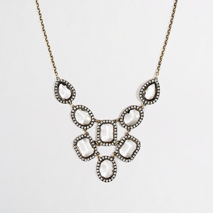 Factory cascading crystal bib necklace
