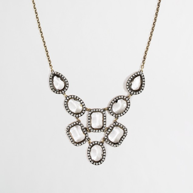 Factory cascading crystal bib necklace