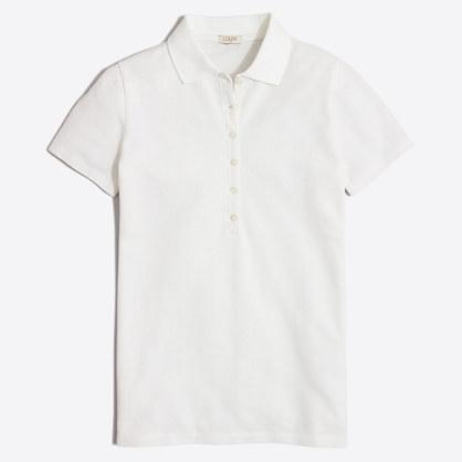 Factory piqué polo shirt