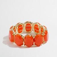 Factory gold-plated oval stone stretch bracelet