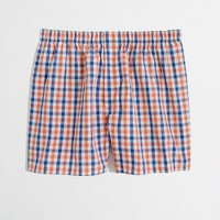 Factory orange-check boxers