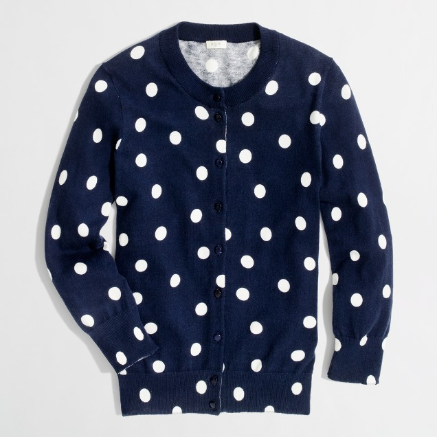 Factory Clare cardigan in big dot