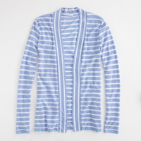 Factory stripe shawl-front cardigan