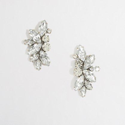 Factory crystal wing earrings