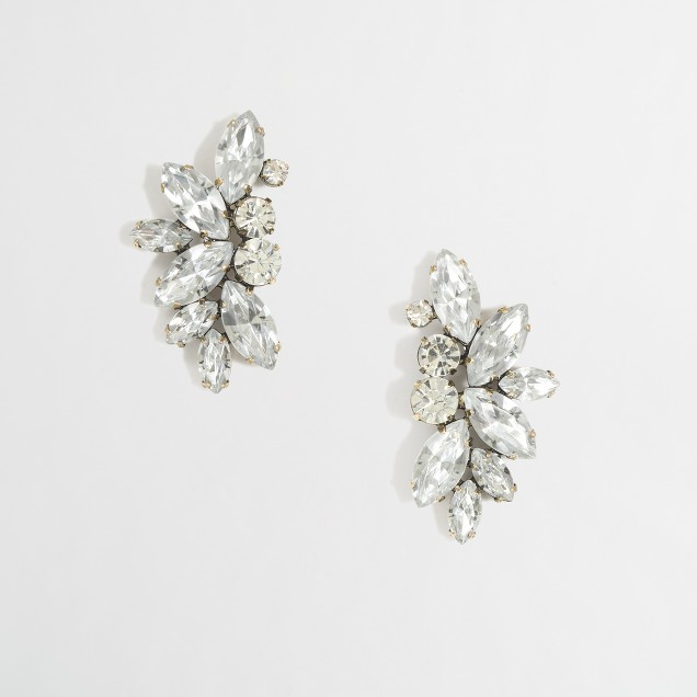 Factory crystal wing earrings
