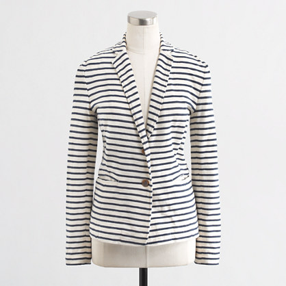 Factory stripe knit pocket blazer