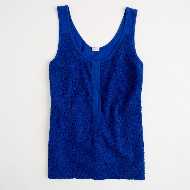 Factory lace-over tank