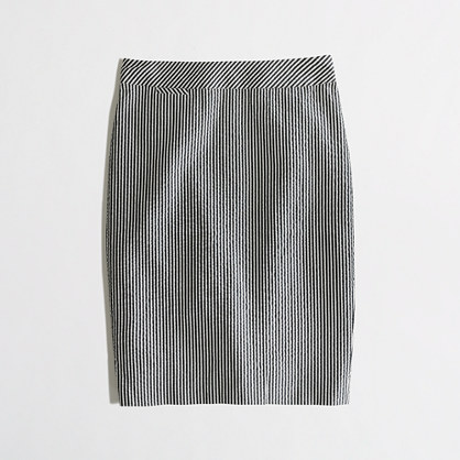 Factory pencil skirt in seersucker