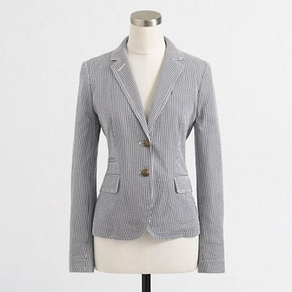 Factory tailored boy blazer in seersucker : Blazers | J.Crew Factory