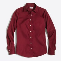 Petite stretch classic button-down shirt