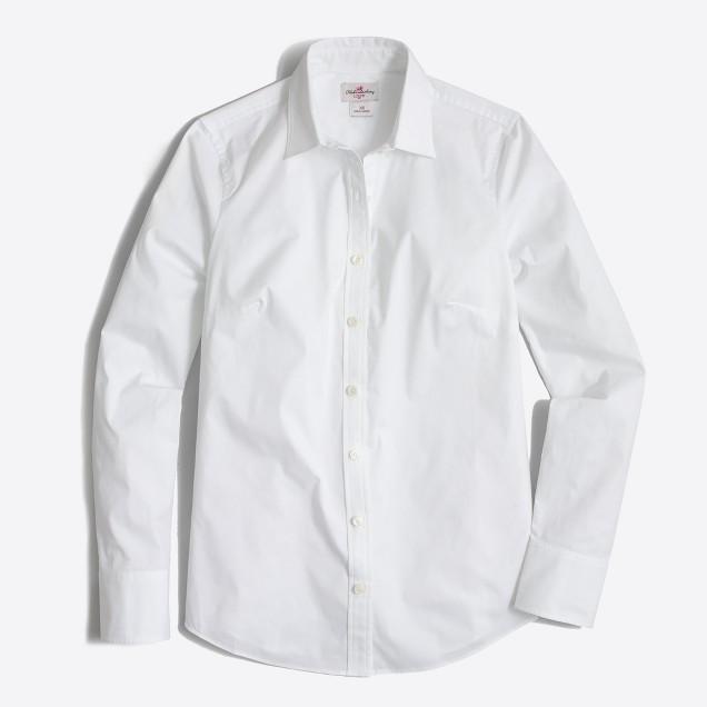 Stretch Classic Button-Down Shirt : Women's Shirts | J.Crew Factory