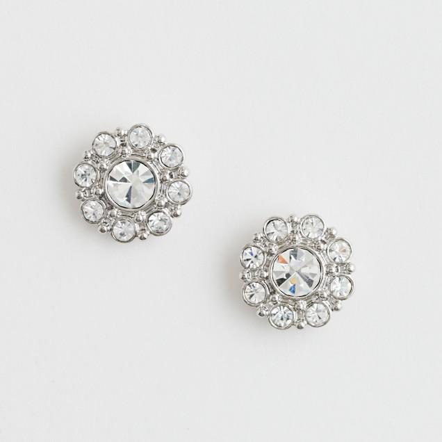 Factory crystal flower earrings