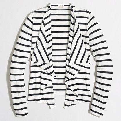 Factory always cardigan sweater in stripe