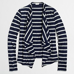 Factory always cardigan sweater in stripe