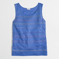 Factory crochet lace tank