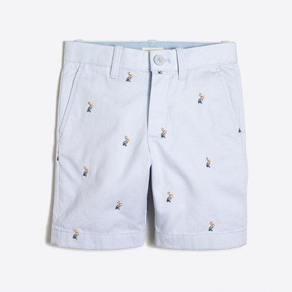 Boys' embroidered Gramercy short