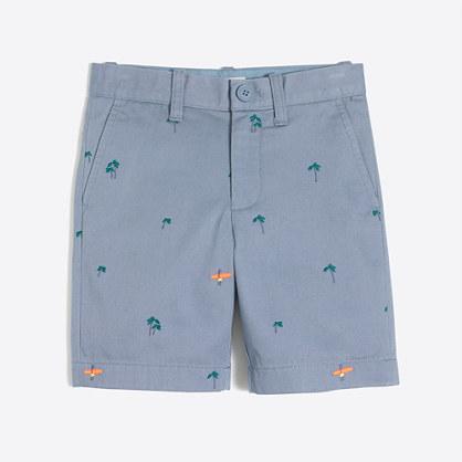 Boys' embroidered Gramercy short