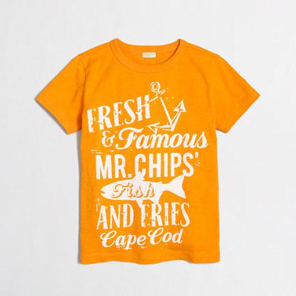 Boys' fish & chips storybook t-SHIRT