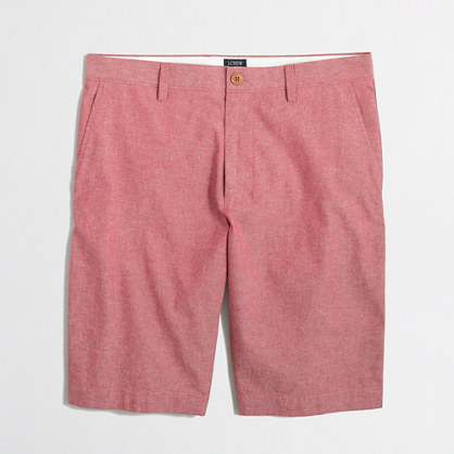 "11"" red chambray Rivington short"
