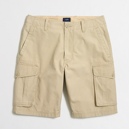 J.Crew Factory Mens Cargo Shorts in Desert Olive or Khaki