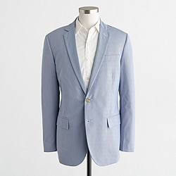 Factory Thompson suit jacket in corded cotton