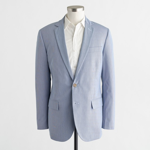 Thompson suit jacket in corded cotton