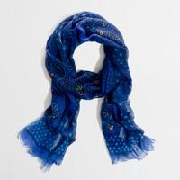 Factory printed eyelash scarf