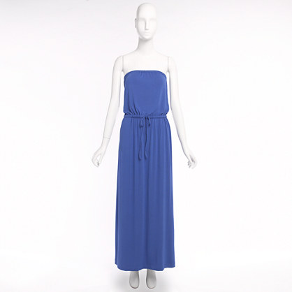 Factory strapless jersey maxidress