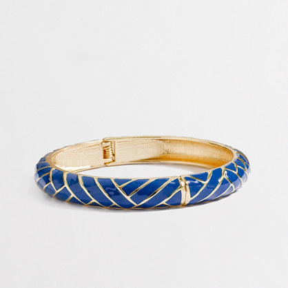 Factory skinny zigzag bangle