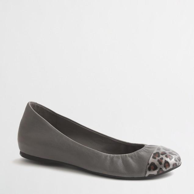 Factory Anya printed cap toe ballet flats