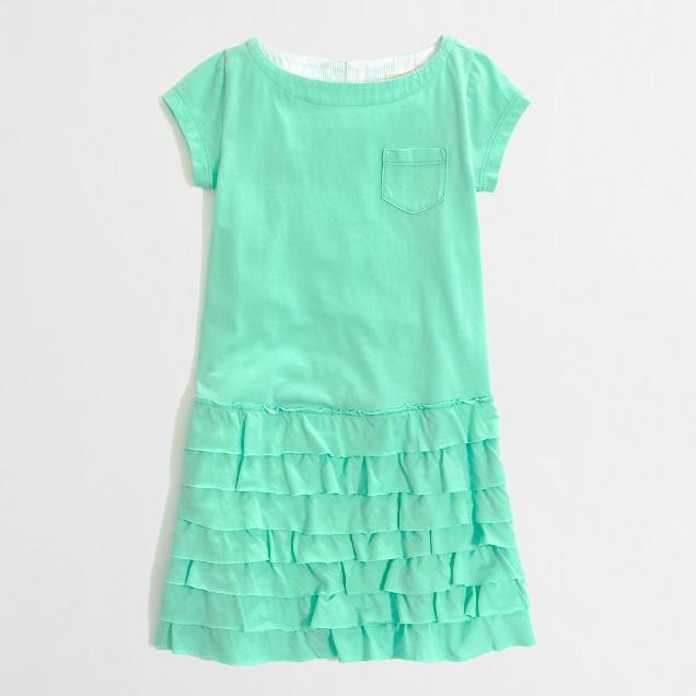 Factory girls' tiered ruffle tee dress