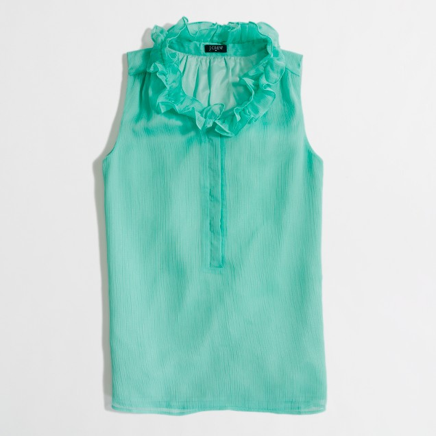 Factory ruffle-collar cami