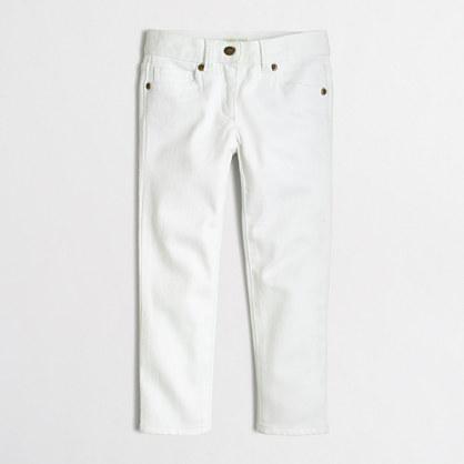 Girls' skinny jean in white