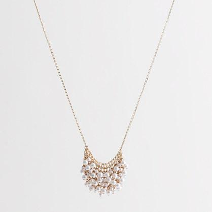 Factory mini-pearl supernova necklace