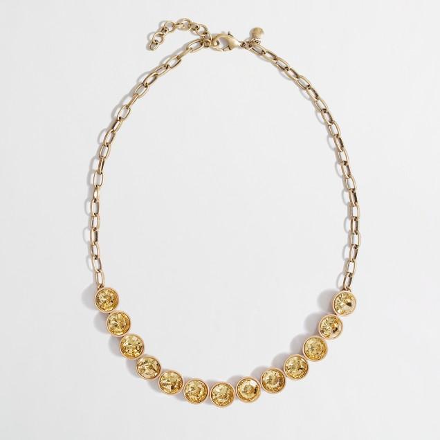 Factory crystal brûlée necklace