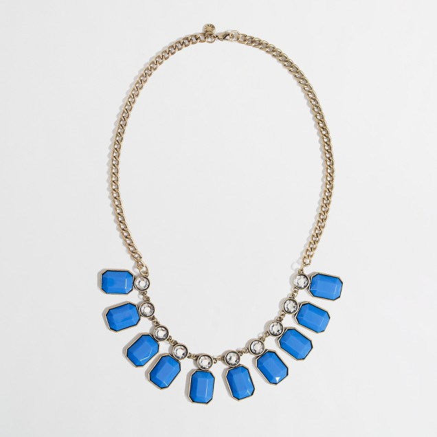 Factory stone and crystal collar necklace