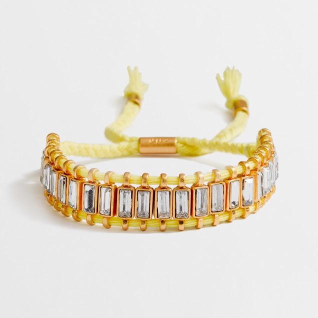 Factory crystal railtrack friendship bracelet