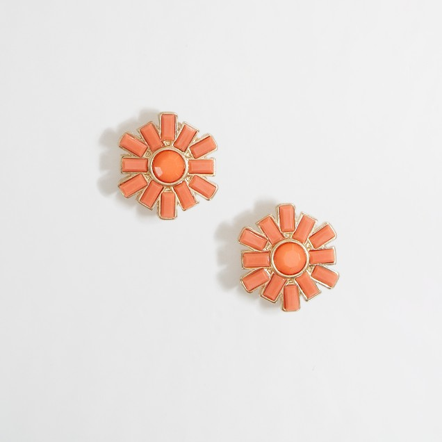 Factory pinwheel stud earrings