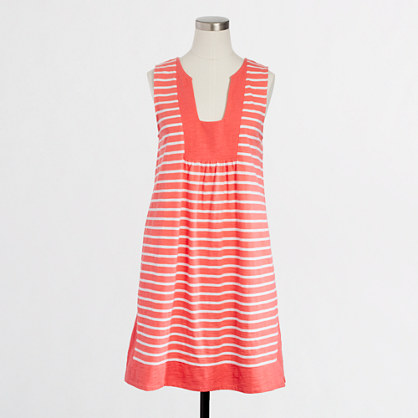 Factory stripe beach tank dress