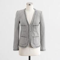 Factory frayed tweed jacket