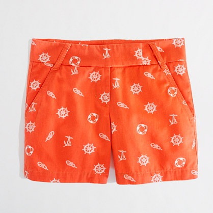 "Factory 5"" printed broken-in chino short"
