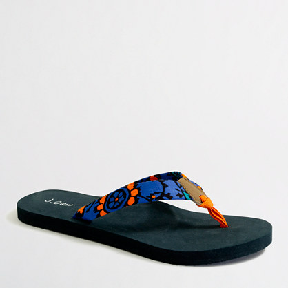Factory printed cotton flip-flops