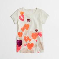 Factory girls' floating hearts keepsake tee