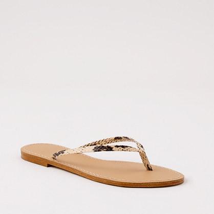Factory snakeskin capri sandals