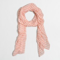 Printed long lightweight scarf